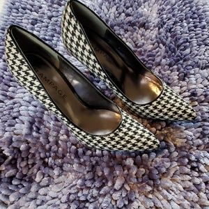 Rampage Houndstooth Heels Size 8.5